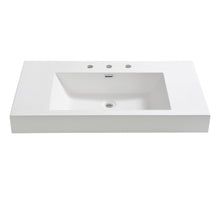 "Load image into Gallery viewer, Fresca Vista 36"" White Integrated Sink / Countertop - SKU # FVS8090WH"