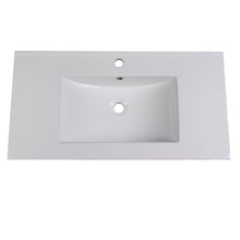 "Load image into Gallery viewer, Fresca Allier 36"" White Integrated Sink / Countertop"