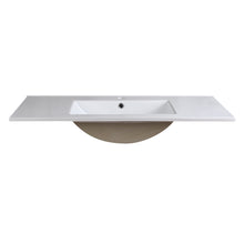 "Load image into Gallery viewer, Fresca Allier 40"" White Integrated Sink / Countertop"
