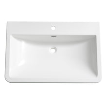 "Fresca Milano 32"" White Integrated Sink / Countertop"