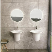 "Load image into Gallery viewer, 19""POLYSTONE BUCKET STYLE WALL MOUNTED SINK IN GLOSSY WHITE FINISH-NO FAUCET"