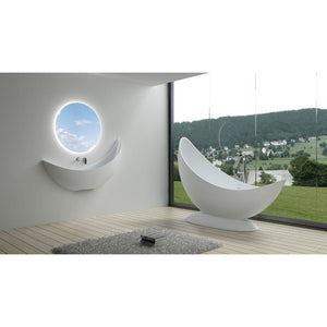 "70""POLYSTONE FREE STANDING BATHTUB IN MATTE WHITE FINISH-NO FAUCET"