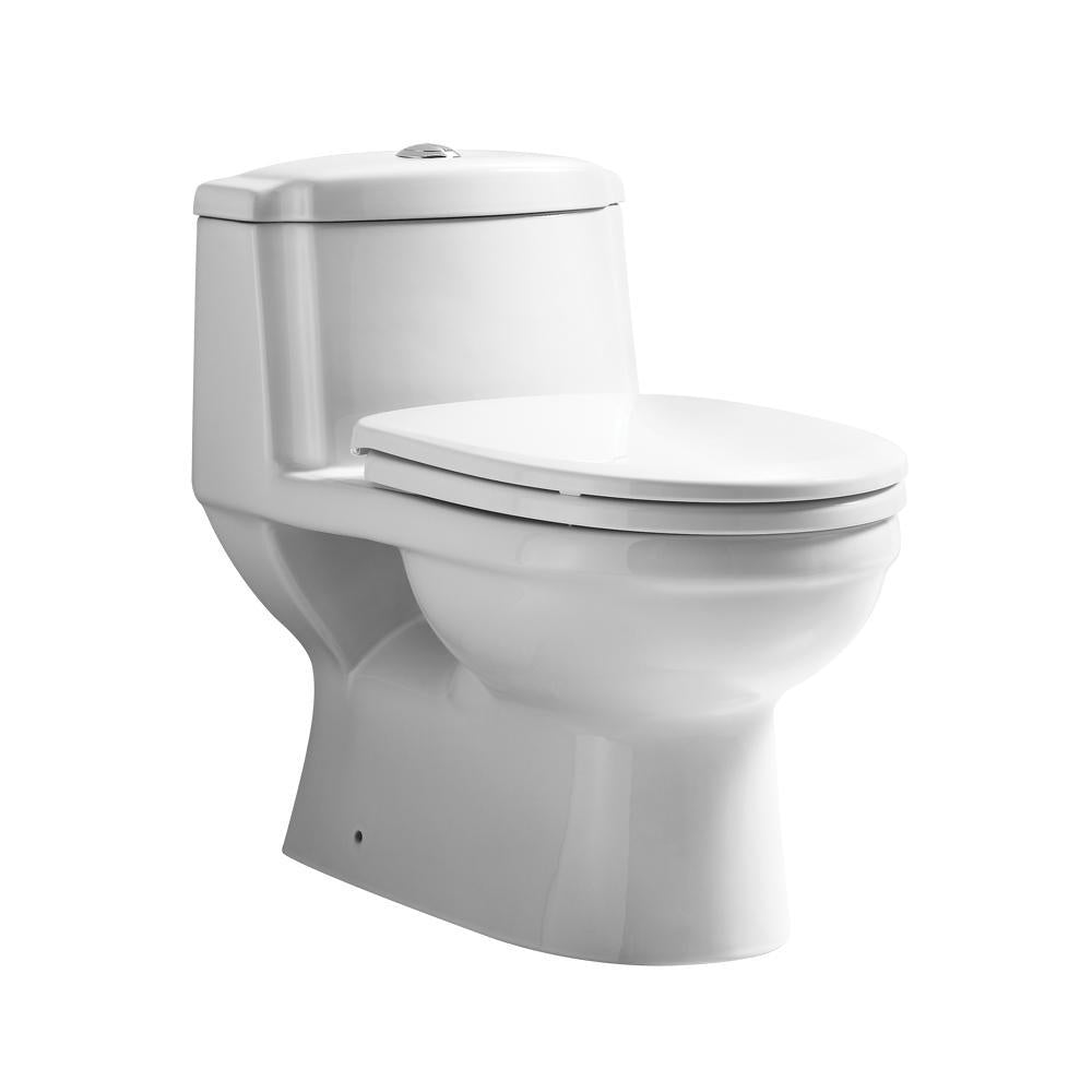 Magic Flush Eco-Friendly One Piece Toilet with a Siphonic Action Dual Flush System,  Elongated Bowl, 1.6/1.1 GPF and WaterSense Certified