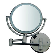 Load image into Gallery viewer, Round Wall Mount Dual Led 7X Magnified Mirror
