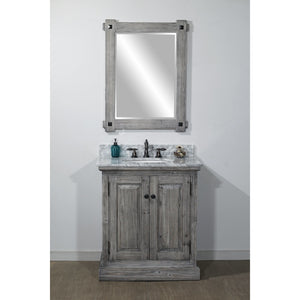 "30"" RUSTIC SOLID FIR SINGLE SINK VANITY IN GREY DRIFTWOOD"