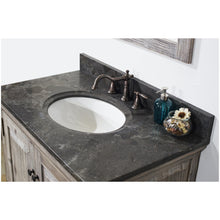 "Load image into Gallery viewer, 36"" RUSTIC SOLID FIR SINGLE SINK VANITY IN GREY DRIFTWOOD WITH LIMESTONE TOP-NO FAUCET"