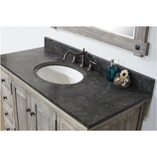 "48"" RUSTIC SOLID FIR SINGLE SINK VANITY IN GREY-DRIFTWOOD WITH LIMESTONE TOP-NO FAUCET"