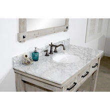 "Load image into Gallery viewer, 48""RUSTIC SOLID FIR SINGLE SINK VANITY WITH CARRARA WHITE MARBLE TOP-NO FAUCET"