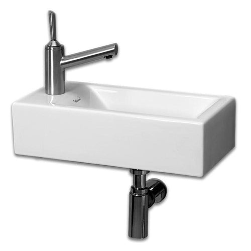 Isabella Collection Small Wall Mount Basin with Center Drain
