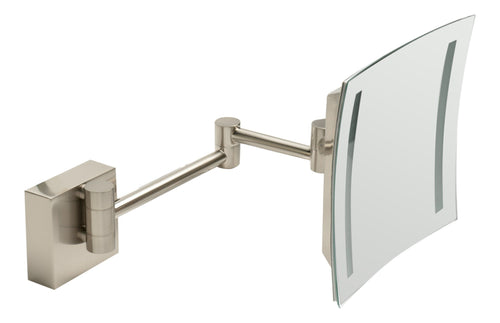 Brushed Nickel Wall Mount Square 8