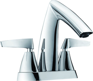 Brushed Nickel Two-Handle 4'' Centerset Bathroom Faucet