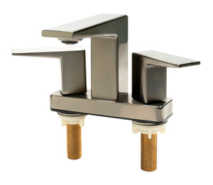 Polished Chrome Two-Handle 4'' Centerset Bathroom Faucet