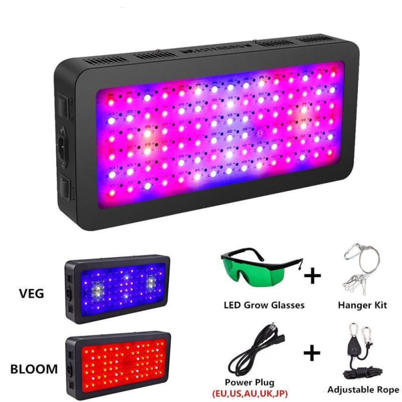Full Spectrum Double Switches LED grow light with Veg/Bloom modes for Indoor plants Greenhouse grow tent -                              ONIA LLC