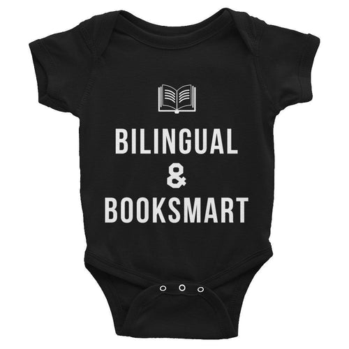 onesie for bilingual booklovers