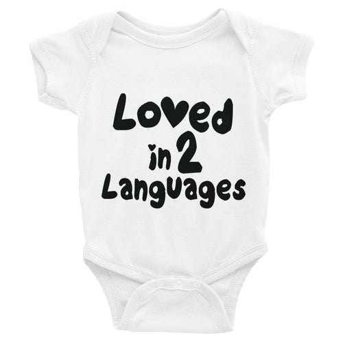 onesie for bilingual infant