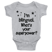 Load image into Gallery viewer, body suit bilingual baby