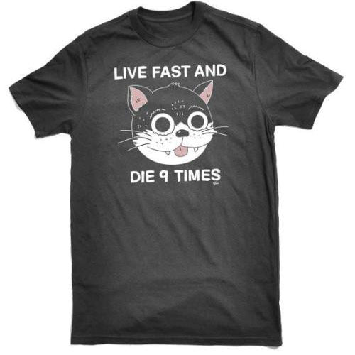 LIVE FAST AND DIE 9 TIMES (BLACK) SHIRT