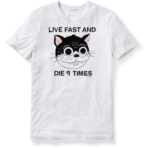 LIVE FAST AND DIE 9 TIMES (WHITE) SHIRT