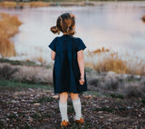 Little girl in a Smock dress  by Amuse Me Shop