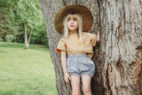 Girls Linen Boxy Tee | Parisian Capsule Collection