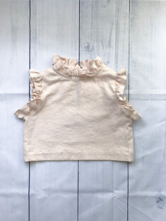 Girls Linen Ruffle Blouse | Parisian Capsule Collection
