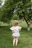 Girls Ruffle Linen Bloomers | Heather