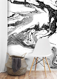 Curated Bespoke Murals Marble Ink Wallpaper 2001006
