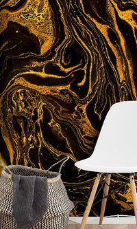 Curated Bespoke Murals Jeweled Tigers Eye Wallpaper 2001007