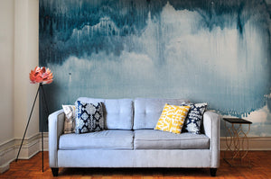 Curated Bespoke Murals Denim Tie-Dye Wallpaper 2001008