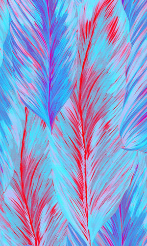 Solstice Fluorescent Feathers Wallpaper 2001015
