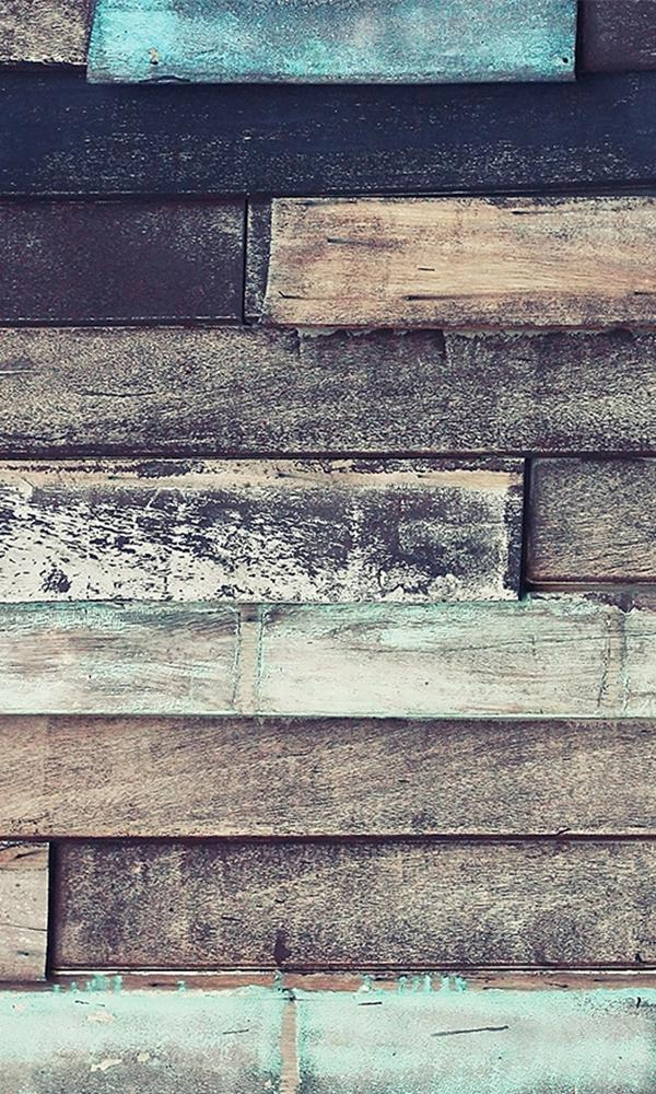 UNEVEN HORIZONTAL WOODEN PLANKS WALLPAPER 2001026