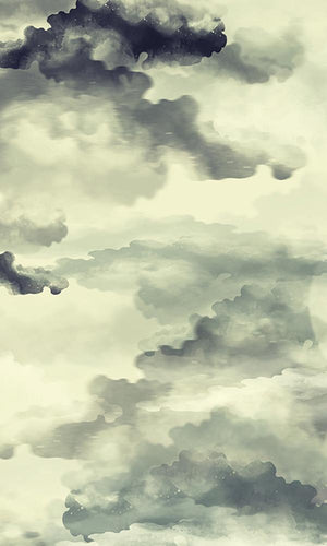 WATERCOLOR PAINTED CLOUDS WALLPAPER 2001030