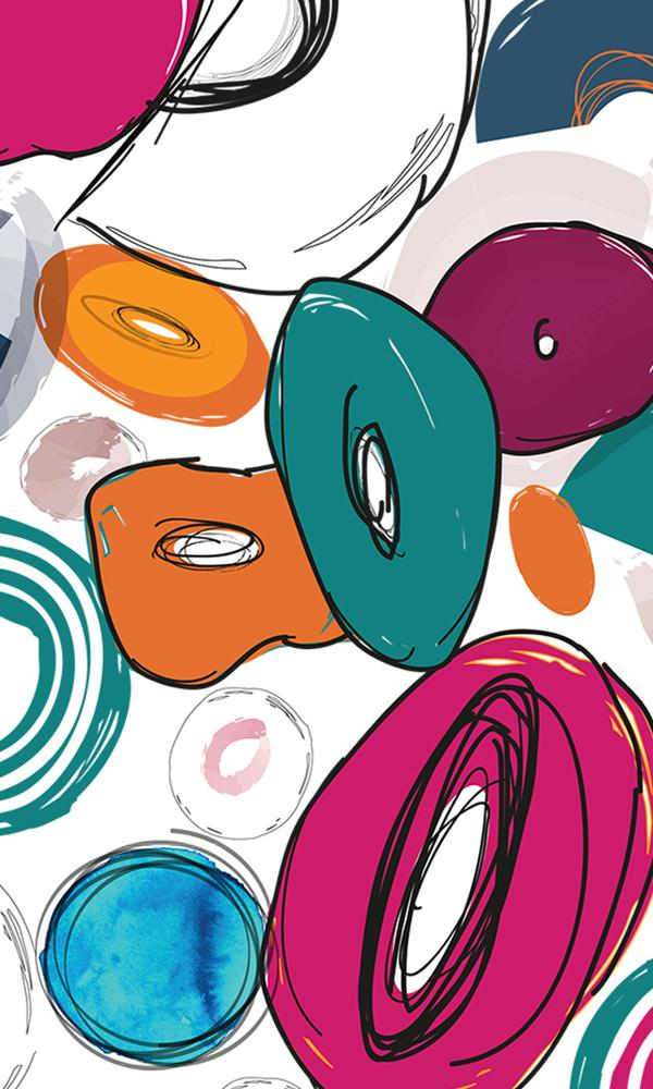 Abstract Playful Donuts Wallpaper 2001057 - bshwallsandfloors.com