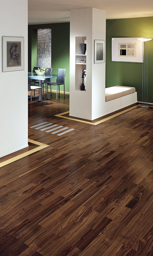 Walnut City 3 Layer 3 Strip Wooden Floor