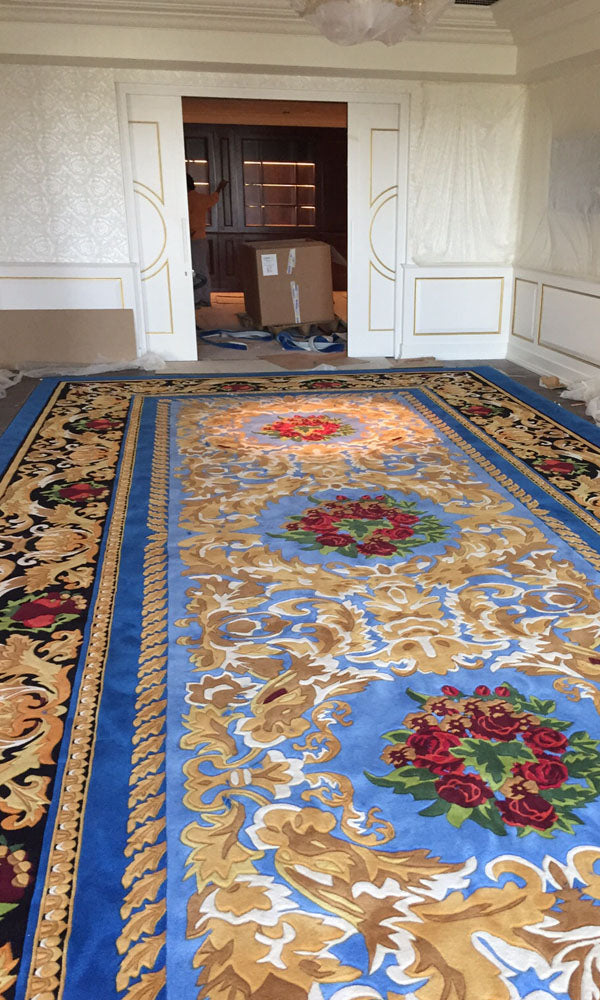 Hand Tufted Dinning Carpet 0007
