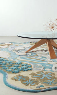 Hand Tufted Dinning Carpet 0012