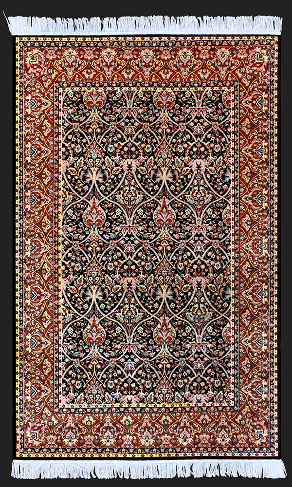 Talkh Tooba Brown Rug