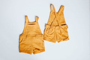 Short Overalls // Goldenrod