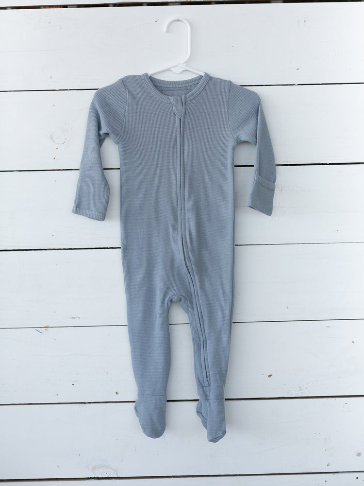 Organic Thermal Zip Footie // Tradewinds