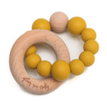Crew Teether // Silicone + Wood // Mustard