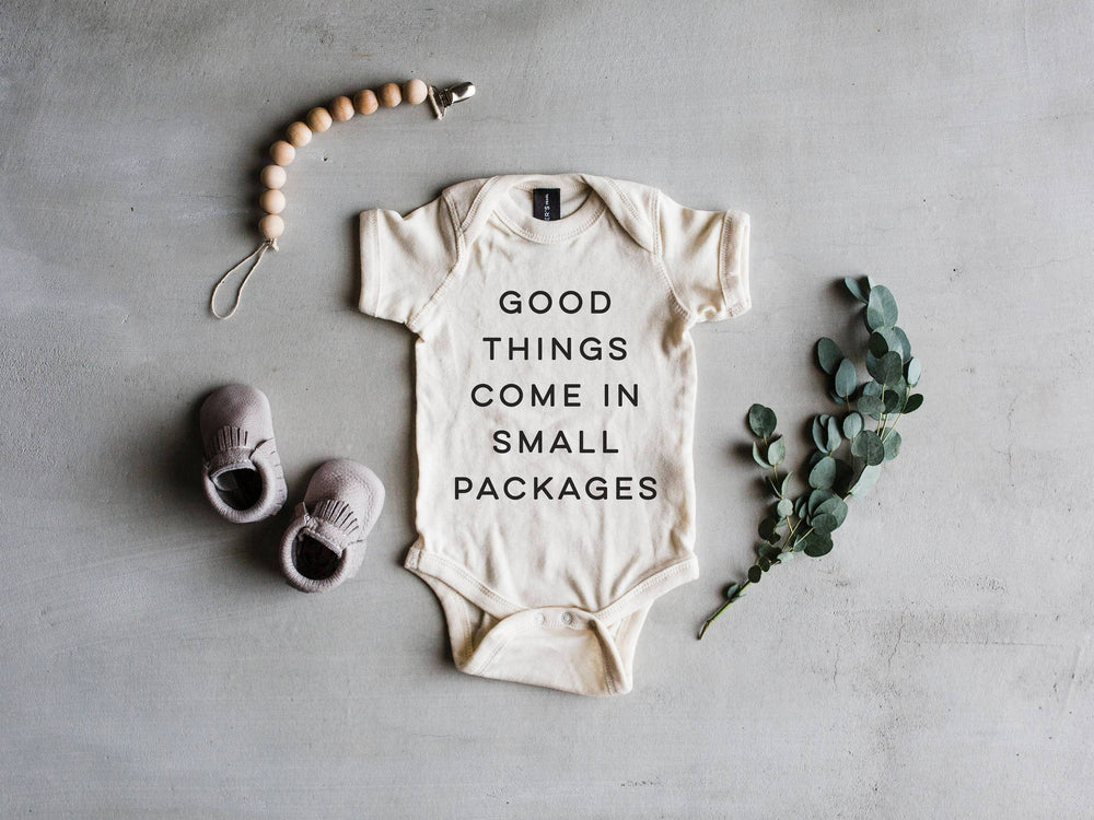 """Good Things Come In Small Packages"" Bodysuit // Cream"