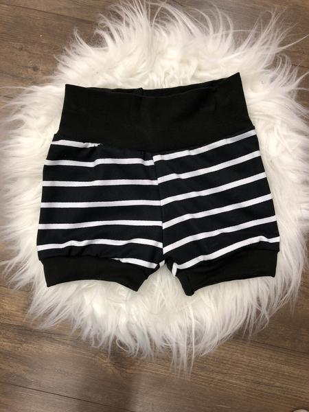 Jogger Shorts // Black Stripe
