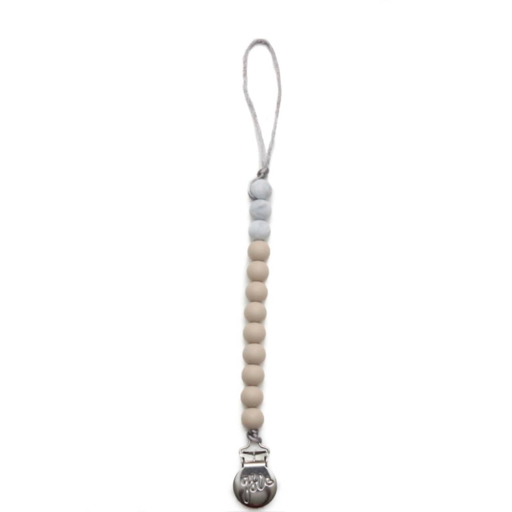 Ryan Pacifier Clip // Taupe