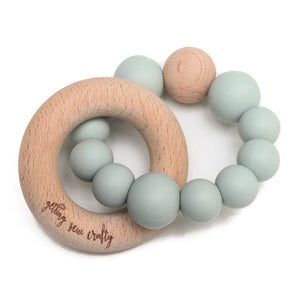 Crew Teether // Silicone + Wood // Mystic