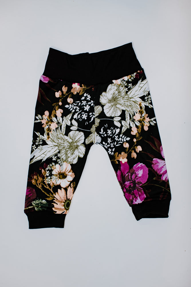Load image into Gallery viewer, Joggers // Black Flower Festival