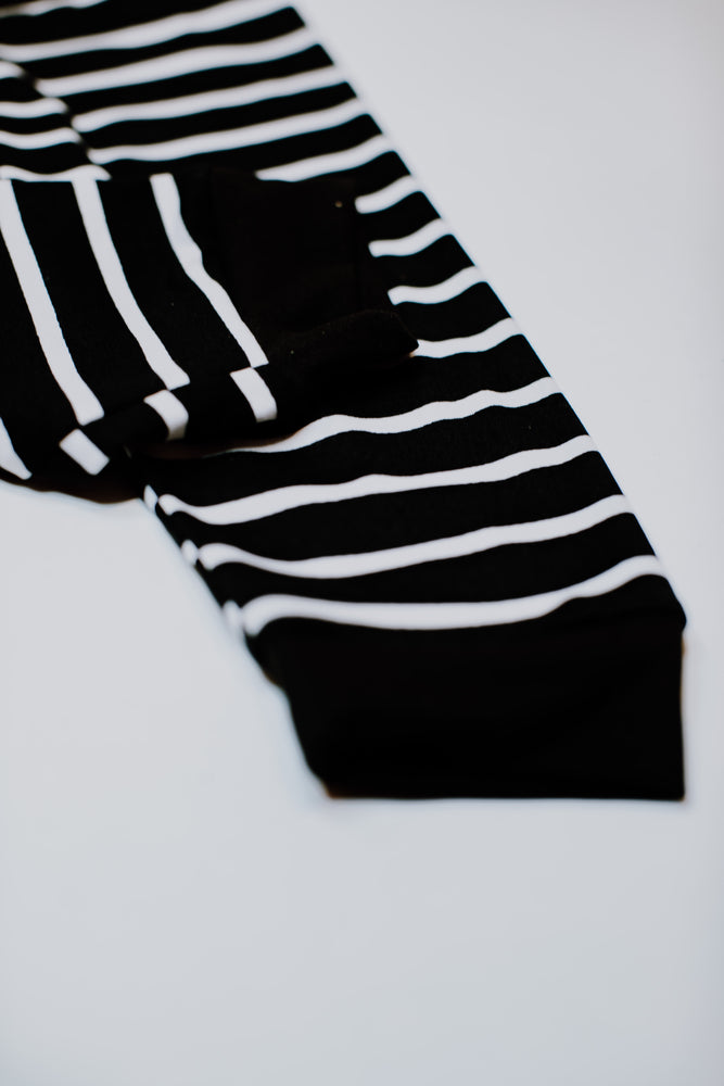 Joggers // Black & White Stripe
