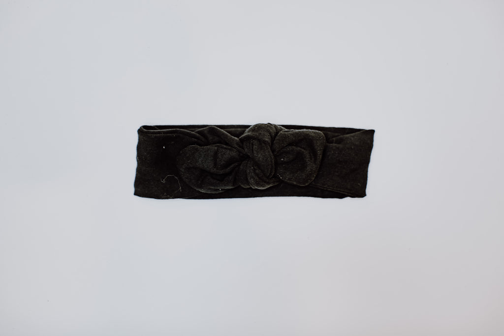Knot Bow Headband // Black