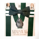 Bow Tie & Suspenders Set // Hunter Green