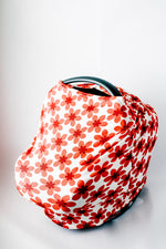 5-in-1 Multi Use Cover // Red Flower
