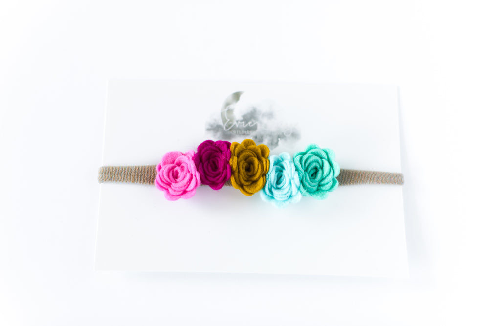 Flower Crown Headband // Multi Color
